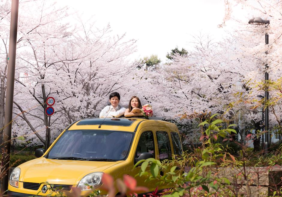 東京挙式・オープンカー
