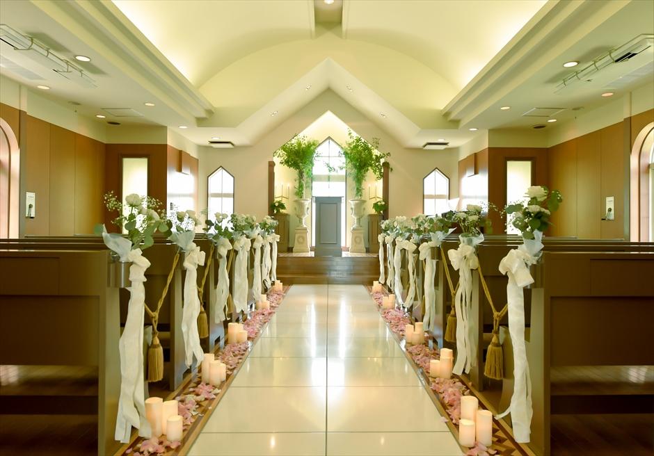 横浜チャペル結婚式 挙式会場装飾オプション 横浜結婚式