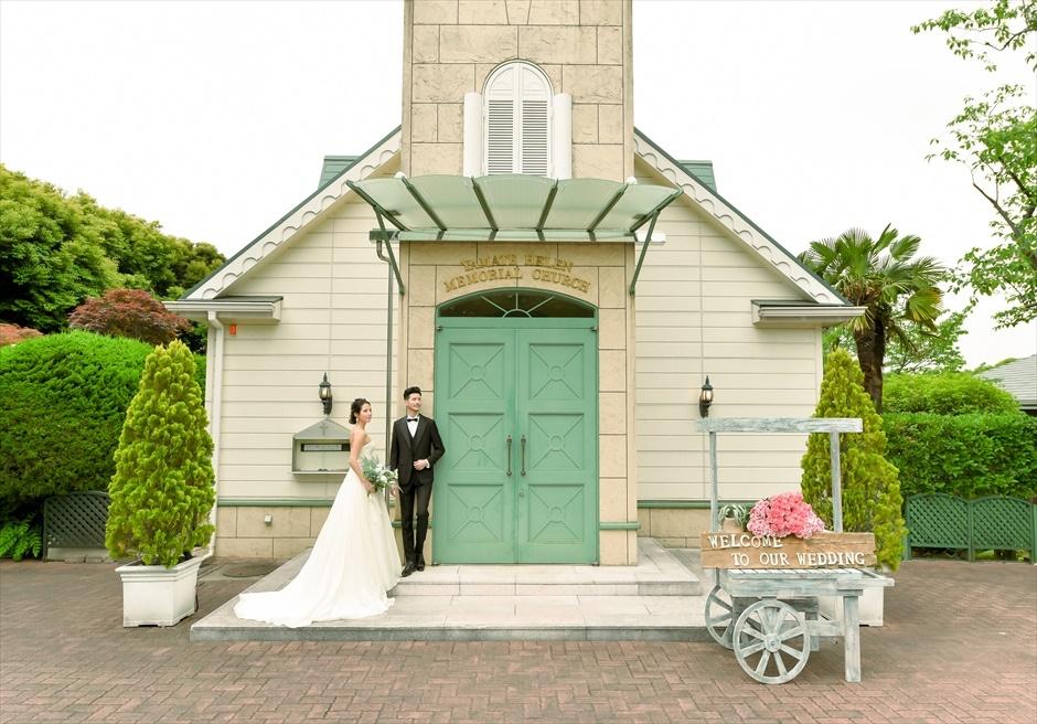 横浜山手ヘレンチャペルウェディング 横浜チャペル前撮り 横浜結婚式