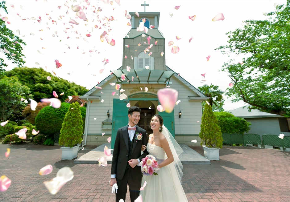 横浜チャペル結婚式 横浜結婚写真 山手チャペルウェディング